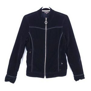 POINT ZERO Velvety Faux Suede Moto Jacket Coat